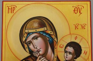 Panagia Paramythia Icon Hand Painted Byzantine Orthodox