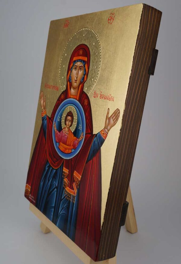 Panagia Platytera Icon Hand Painted Byzantine Orthodox