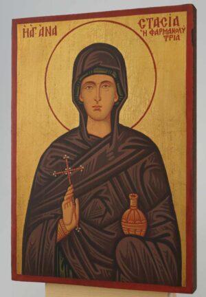 Saint Anastasia small Icon Hand Painted Byzantine Orthodox