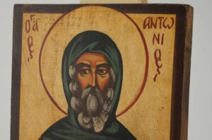 Saint Anthony the Great small Icon Hand Painted Byzantine Orthodox