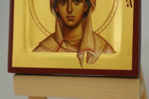 Saint Sophia the Martyr miniature Icon Hand Painted Byzantine Orthodox