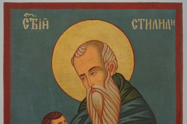 Saint Stylianos Icon Hand Painted Byzantine Orthodox
