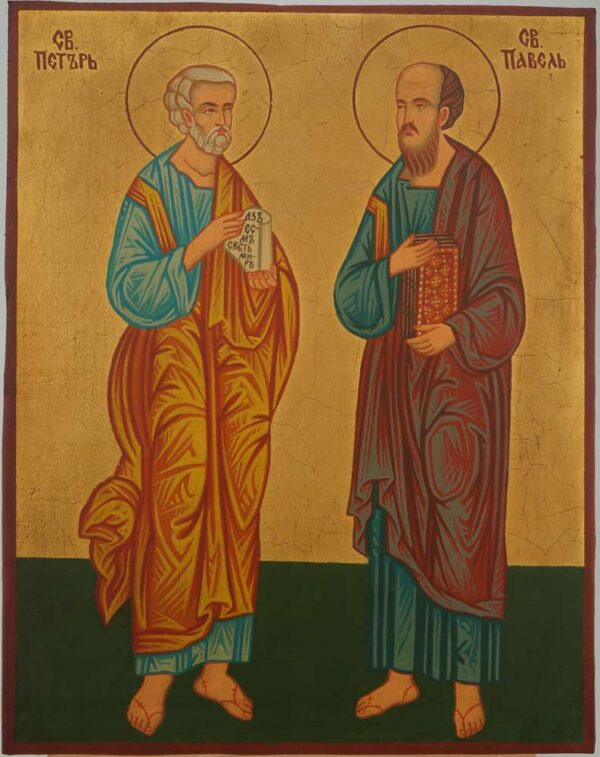 Saints Peter and Paul Icon Hand Painted Byzantine Orthodox