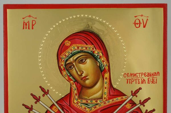 Softener of Evil Hearts polished gold Icon Hand Painted Byzantine Orthodox