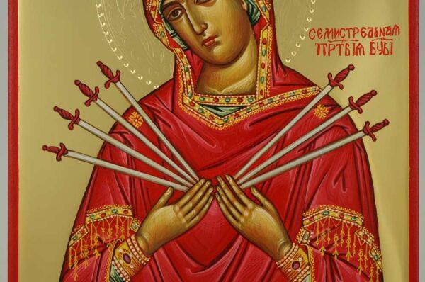 Softener of Evil Hearts polished gold Icon Hand Painted Byzantine Orthodox
