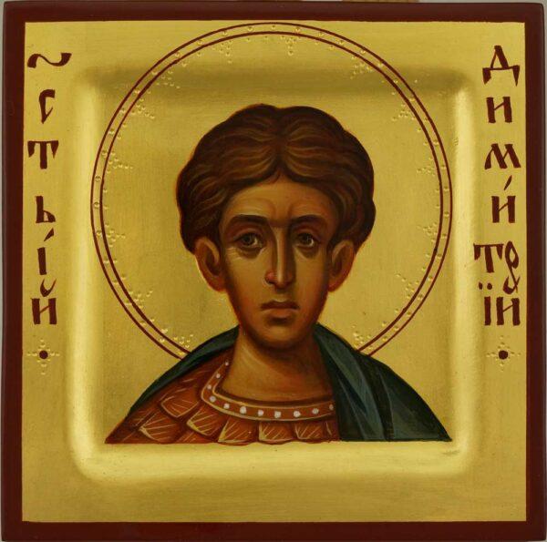 St Demetrius of Thessaloniki miniature Icon Hand Painted Orthodox