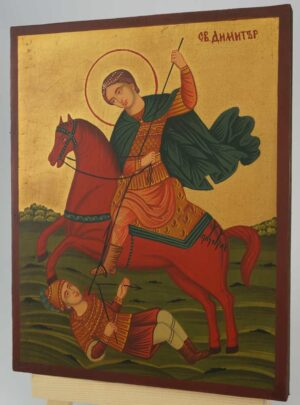St Demetrius the Great Martyr Icon Hand Painted Byzantine Orthodox