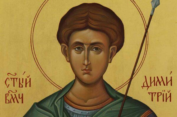 St Dimitrios of Thessaloniki Icon Hand Painted Greek Orthodox