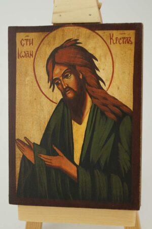 St John the Baptist Deesis small Icon Hand Painted Byzantine Orthodox