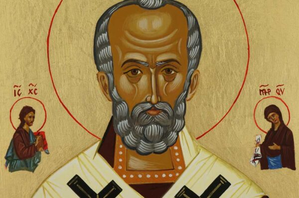 St Nicholas the Miracle Worker Icon Hand Painted Orthodox