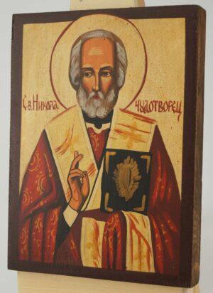 St Nicholas the Wonder Worker Icon Hand Painted Byzantine