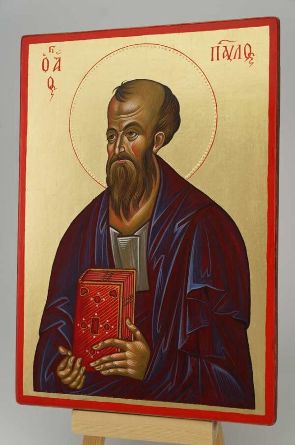 St Paul the Apostle Icon Hand Painted Byzantine Orthodox