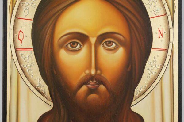 The Holy Face Mandylion Icon Hand Painted Byzantine Orthodox