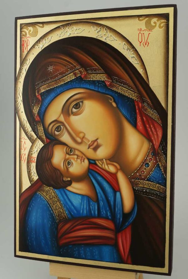 Theotokos Eleusa Icon Hand Painted Orthodox