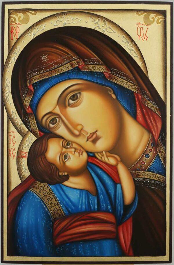 Theotokos Eleusa Icon Hand Painted Orthodox