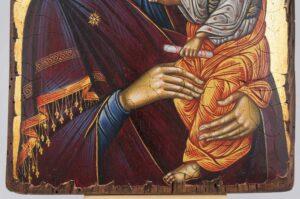 Theotokos Hodegetria Icon Hand Painted Byzantine Orthodox