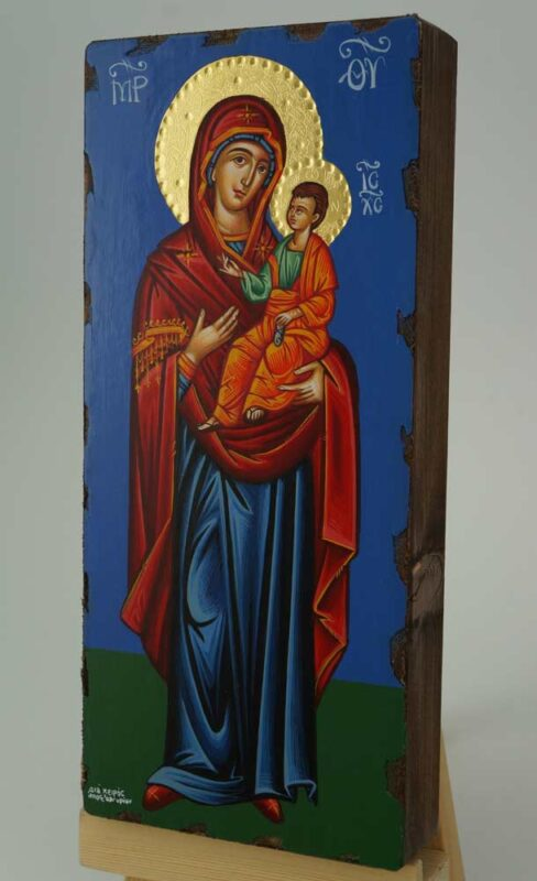 Theotokos Hodegetria Icon Hand Painted Greek Orthodox Buzantine