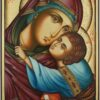 Theotokos Sweet Kissing Icon Hand Painted Orthodox