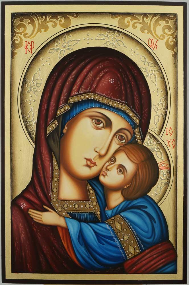 Theotokos Sweet Loving Icon Hand Painted Orthodox