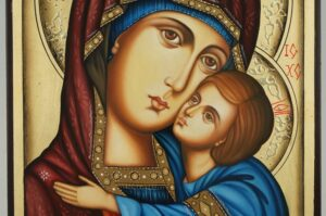 Theotokos Sweet Loving Icon Hand Painted Orthodox