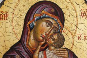 Theotokos Tenderness Icon Hand Painted Byzantine Orthodox