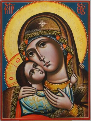 Theotokos Tenderness Rila Monastery Icon Hand Painted Byzantine Orthodox