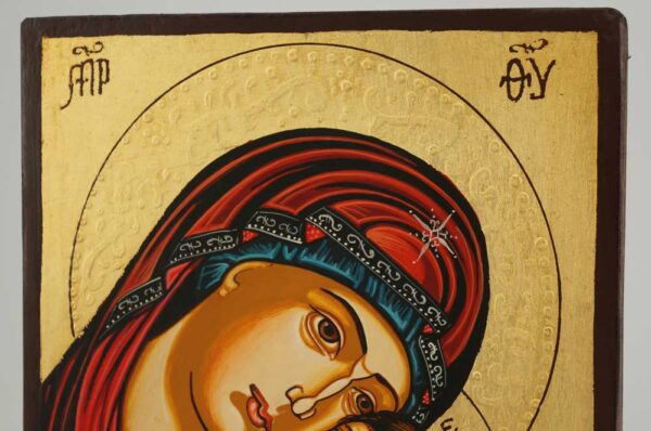 Theotokos Tenderness small Icon Hand Painted Byzantine Orthodox