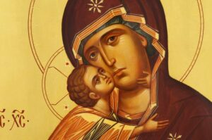 Theotokos of Vladimir Icon Hand Painted on Wood Byzantine Orthodox