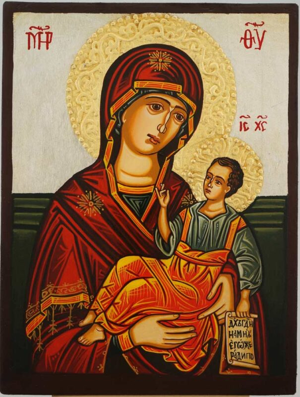 Theotokos the Guide small Icon Hand Painted Byzantine Orthodox
