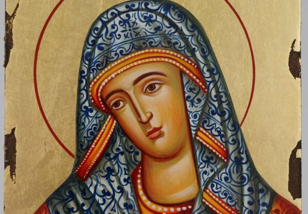 Virgin Mary Extreme Humility Icon Hand Painted Byzantine Orthodox