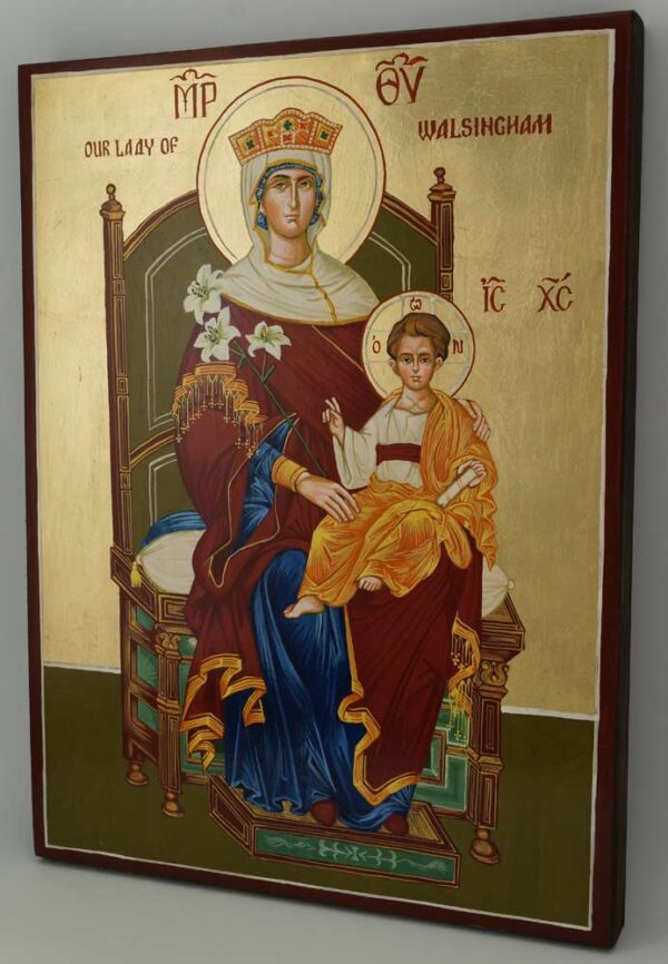 Our Lady of Walsingham Icon Hand Painted Byzantine Orthodox