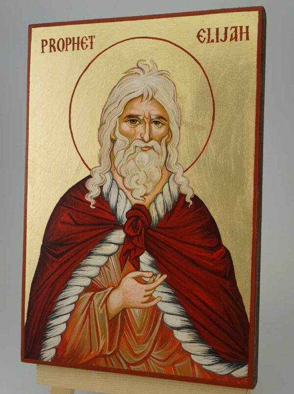 Prophet Elijah Icon Hand Painted Byzantine Orthodox