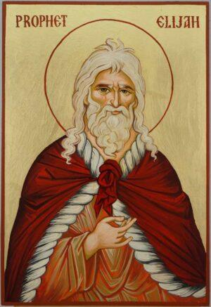 Prophet Elijah Icon Hand Painted Byzantine Orthodox
