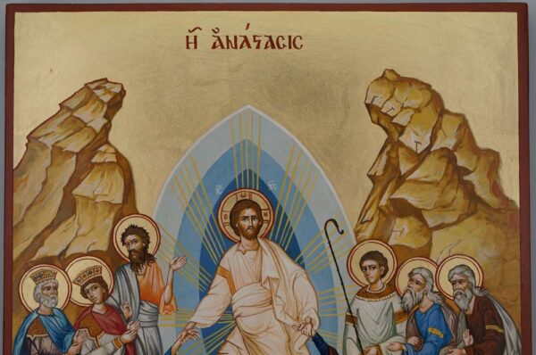Resurrection Anastasis Icon Hand Painted Byzantine Orthodox