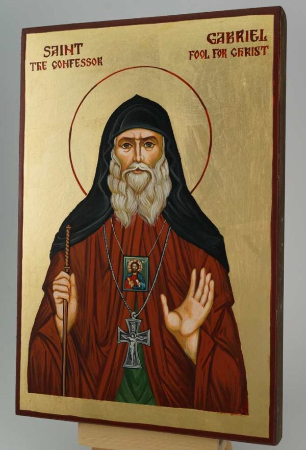 Saint Gabriel Confessor Icon Hand Painted Byzantine Orthodox