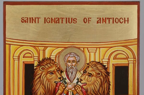 Saint Ignatius of Antioch Icon Hand Painted Byzantine Orthodox