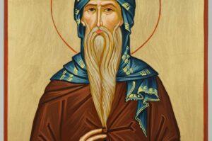 Saint Isaac the Syrian Icon Hand Painted Byzantine Orthodox