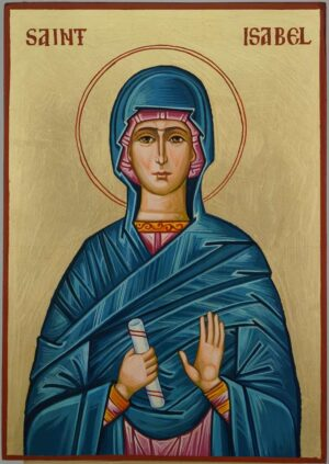 Saint Isabel Icon Hand Painted Byzantine Orthodox