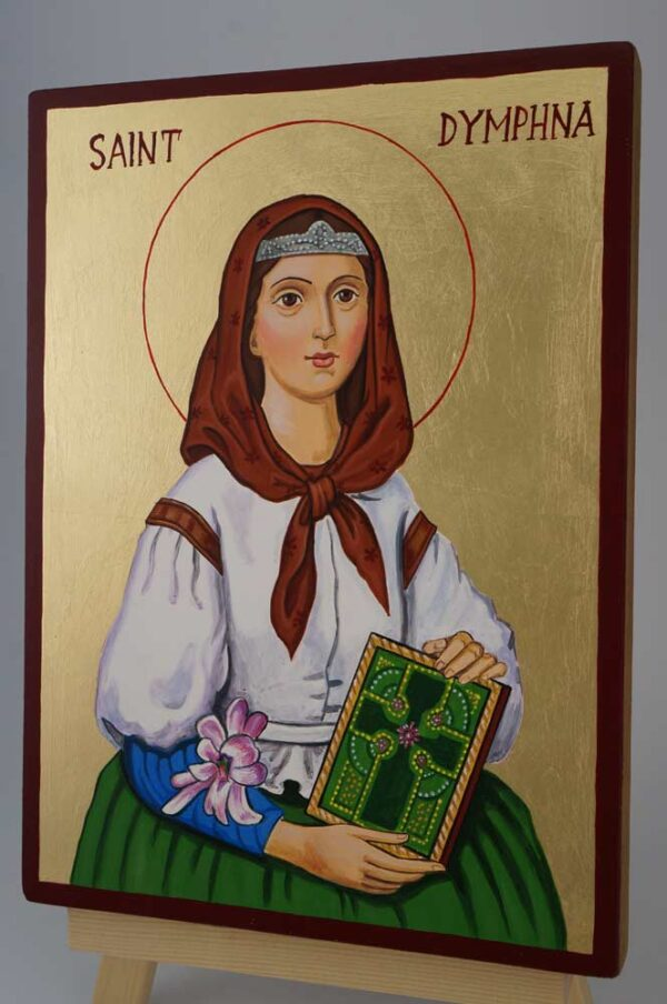 St Dymphna Daphne Icon Hand Painted Byzantine Orthodox