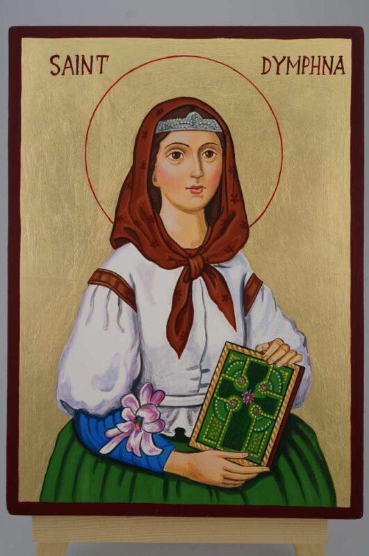St Dymphna Daphne Icon Hand Painted Byzantine Orthodox