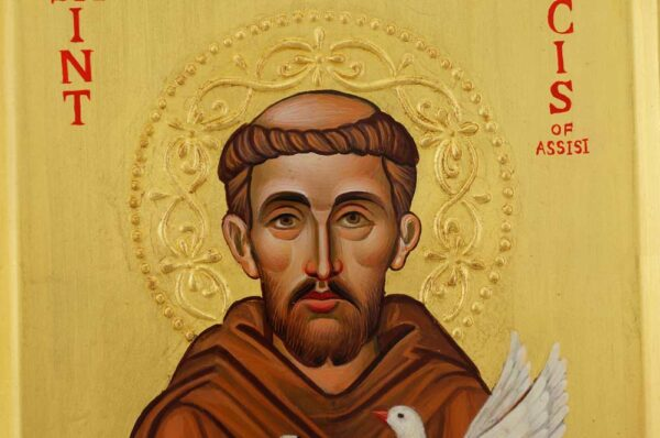 St Francis of Assisi Icon Hand Painted Byzantine Orthodox