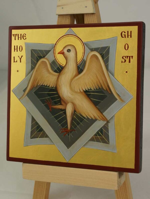 The Holy Spirit Ghost Hand Painted Orthodox Icon on Wood