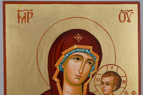 Theotokos Undoer of Knots Icon Hand Painted Byzantine Orthodox