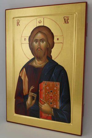 Chirst Pantocrator Icon Vatopedi Monastery Hand Painted Byzantine Orthodox