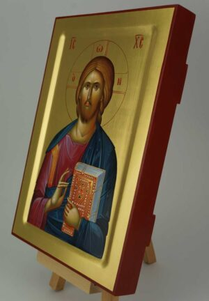 Christ Pantocrator closed book Icon Hand Painted Byzantine Orthodox