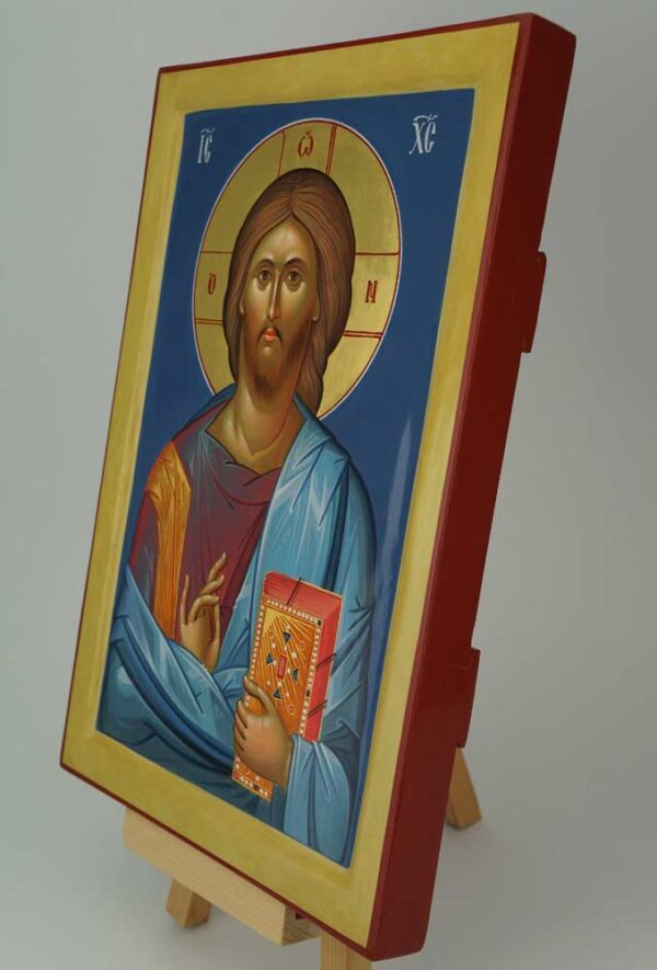 Jesus Christ Pantocrator Icon Hand Painted Byzantine Orthodox