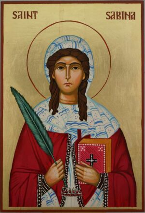 Saint Sabina Large Icon Hand Painted Byzantine Orthodox