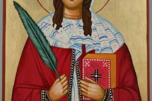 Saint Sabina Large Icon Hand Painted Byzantine Orthodox