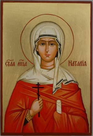 St Natalia the Martyr Icon Hand Painted Byzantine Orthodox