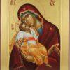 Theotokos Glykophilousa Cretan Icon Hand Painted Byzantine Orthodox